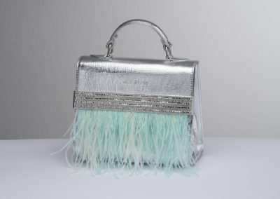lucia merlo bags silver feather